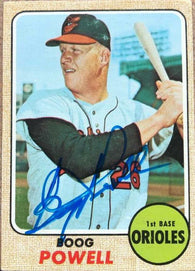 Boog Powell Signed 1968 Topps Baseball Card - Baltimore Orioles