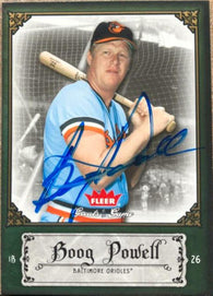 Boog Powell Signed 2006 Fleer Greats of the Game Baseball Card - Baltimore Orioles