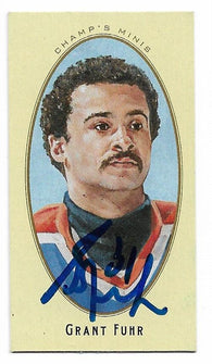 Grant Fuhr 2011-12 Upper Deck Champs Mini Hockey Card - Edmonton Oilers