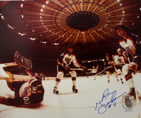 Ron Greschner Signed 13x16 Color Photo - New York Rangers