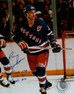 Ron Greschner Signed 8x10 Color Photo - New York Rangers