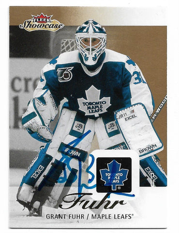 Grant Fuhr 2013-14 Fleer Showcase Hockey Card - Toronto Maple Leafs - PastPros