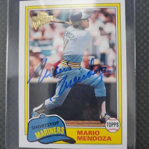 Mario Mendoza Signed 2003 Topps Fan Favorites Baseball Card - Seattle Mariners