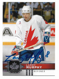 Larry Murphy Signed 2017-18 Upper Deck Canadian Tire Hockey Card - Team Canada - PastPros