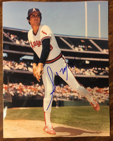 Sid Monge Signed 8x10 Color Photo - California Angels - PastPros