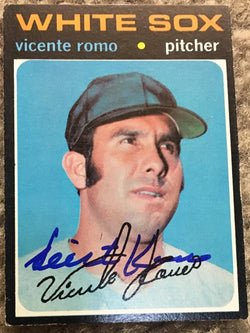 Vicente Romo Signed 1971 Topps Baseball Card - Chicago White Sox