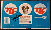 Ellis Valentine Signed Pre-Production Flat RC Cola Can