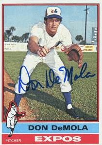 Don Demola Signed 1976 Topps Baseball Card - Montreal Expos