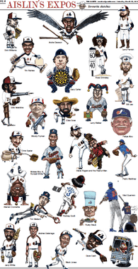 Aislin Signed Expos Mini-Poster - PastPros