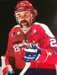 Dennis Maruk Signed 8x10 Color Photo - Washington Capitals