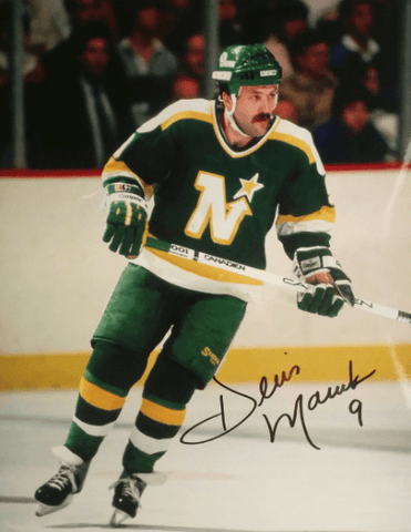 Dennis Maruk Signed 8x10 Color Photo - Minnesota North Stars