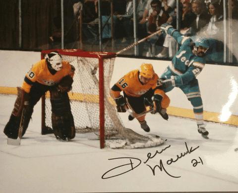 Dennis Maruk Signed 8x10 Color Photo - California Golden Seals