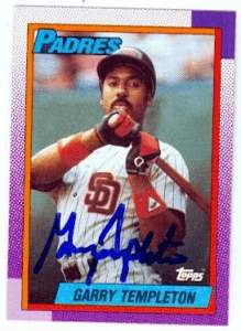 Garry Templeton Signed 1990 Topps Baseball Card - San Diego Padres