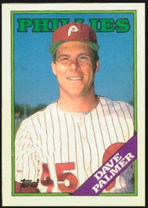 Dave Palmer Signed 1988 Topps Baseball Card - Philadelphia Phillies