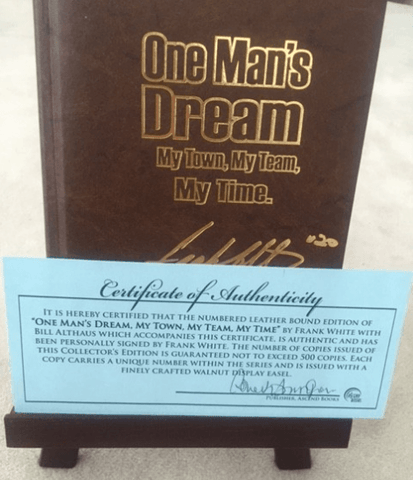 "Frank White's ""One Man's Dream"" Book - Signed Copy"