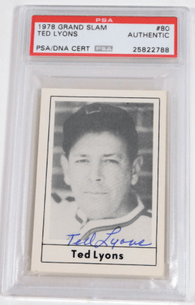 Ted Lyons Signed 1978 Grand Slam Baseball Card – PSA/DNA Certified - PastPros