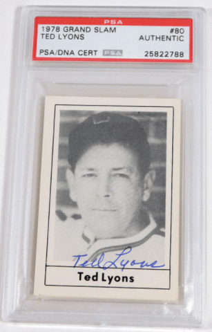 Ted Lyons Signed 1978 Grand Slam Baseball Card – PSA/DNA Certified