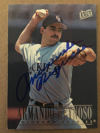 Armando Reynoso Signed 1996 Fleer Ultra Baseball Card - Colorado Rockies - PastPros