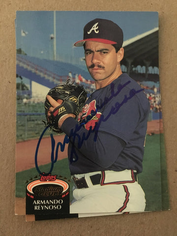 Armando Reynoso Signed 1992 Topps Stadium Baseball Card - Atlanta Braves