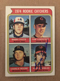 Sergio Robles Signed 1974 Topps Baseball Card - Baltimore Orioles