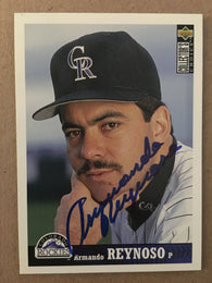 Armando Reynoso Signed 1997 Upper Deck Collector's Choice Baseball Card - Colorado Rockies