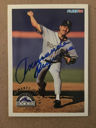 Armando Reynoso Signed 1994 Fleer Baseball Card - Colorado Rockies - PastPros