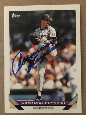 Armando Reynoso Signed 1993 Topps Baseball Card - Colorado Rockies