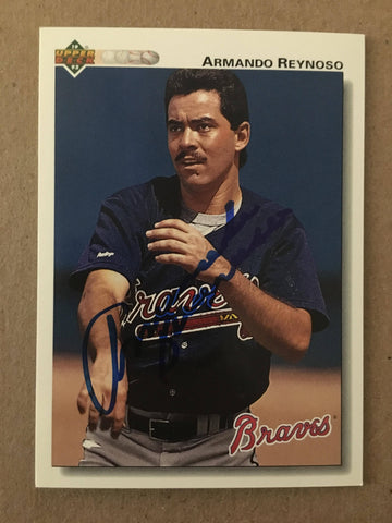 Armando Reynoso Signed 1992 Upper Deck Baseball Card - Atlanta Braves - PastPros