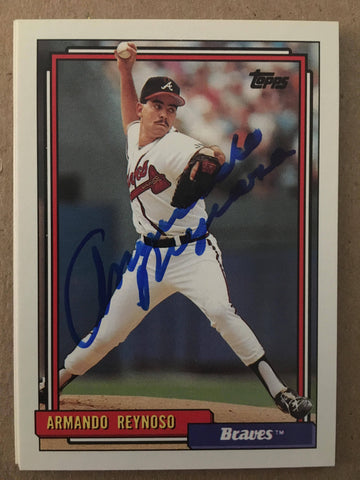 Armando Reynoso Signed 1992 Topps Baseball Card - Atlanta Braves