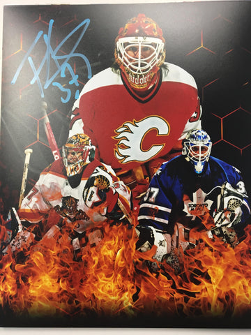 Trevor Kidd Signed 8x10 Color Photo - Flames, Panthers, Maple Leafs - PastPros