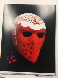 Ron Low Signed 8x10 Colour Photo - Detroit Red Wings Mask