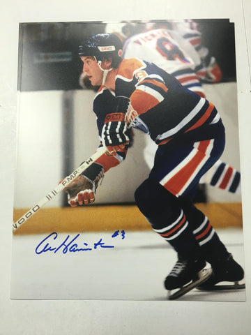 Al Hamilton Signed 8x10 Color Photo - Edmonton Oilers