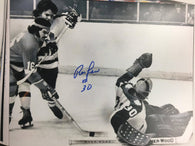 Ron Low Signed 8x10 B&W Photo - Toronto Maple Leafs