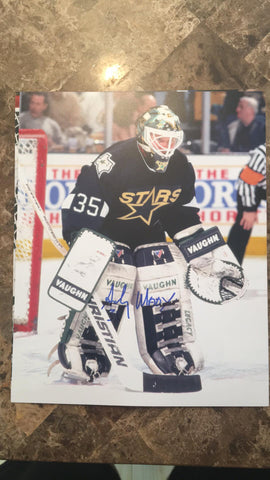Andy Moog Signed 8x10 Color Photo - Dallas Stars