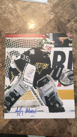 Andy Moog Signed 8x10 Color Photo - Dallas Stars - PastPros