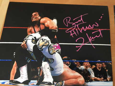 "Bret ""The Hitman"" Hart Signed 8x10 Color Photo - WWF - PastPros"
