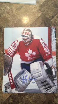 Andy Moog Signed 8x10 Color Photo - Team Canada - PastPros