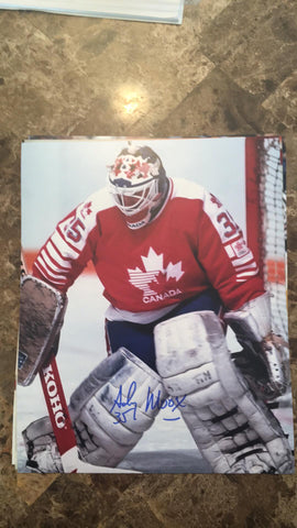 Andy Moog Signed 8x10 Color Photo - Team Canada