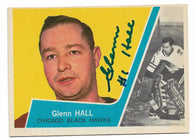 Glenn Hall Signed 1963-64 Topps Hockey Card - Chicago Blackhawks - PastPros