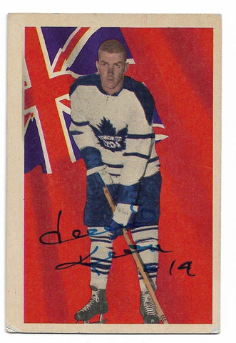 Dave Keon Signed 1963-64 Parkhurst Hockey Card - Toronto Maple Leafs - PastPros