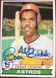 Cesar Cedeno Signed 1979 Topps Baseball Card - Houston Astros - PastPros