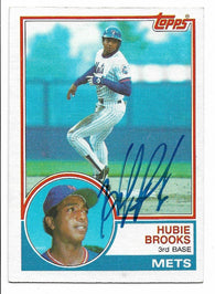 Hubie Brooks Signed 1983 Topps Baseball Card - New York Mets
