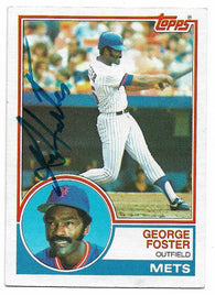 George Foster Signed 1983 Topps Baseball Card - New York Mets