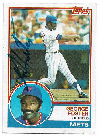 George Foster Signed 1983 Topps Baseball Card - New York Mets - PastPros