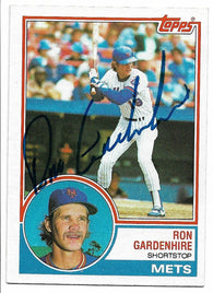Ron Gardenhire Signed 1983 Topps Baseball Card - New York Mets