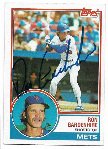 Ron Gardenhire Signed 1983 Topps Baseball Card - New York Mets - PastPros
