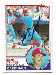 Gene Tenace Signed 1983 Topps Baseball Card - St Louis Cardinals