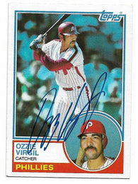 Ozzie Virgil Signed 1983 Topps Baseball Card - Philadelphia Phillies