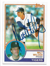 Milt Wilcox Signed 1983 Topps Baseball Card - Detroit Tigers