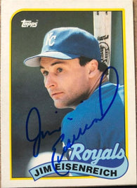 Jim Eisenreich Signed 1989 Topps Traded Baseball Card - Kansas City Royals - PastPros